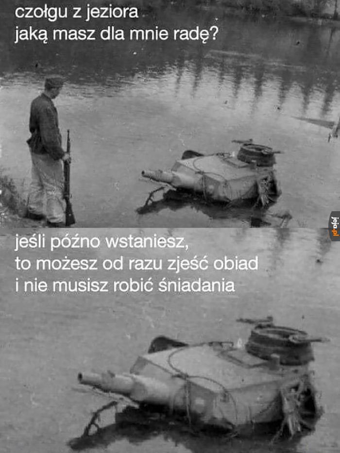 Mądre słowa, panie czołgu