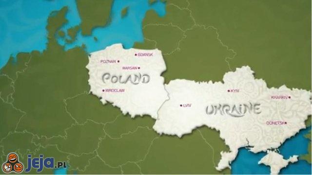 Mapa Polski i Ukrainy na EURO 2012 według UEFA