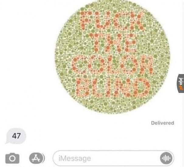 Mamy tu daltonistę