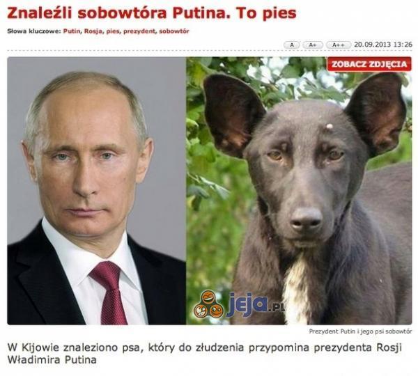 Znaleźli sobowtóra Putina