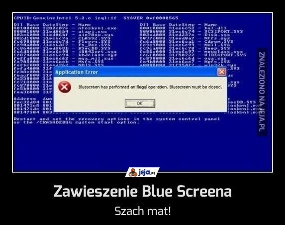Zawieszenie Blue Screena