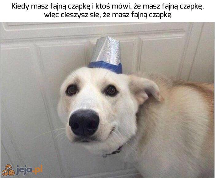 Hej, fajna czapka!