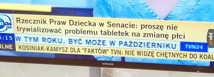 Tymczasem w polskim rządzie: