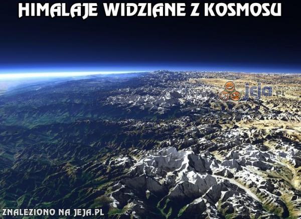 Himalaje widziane z kosmosu