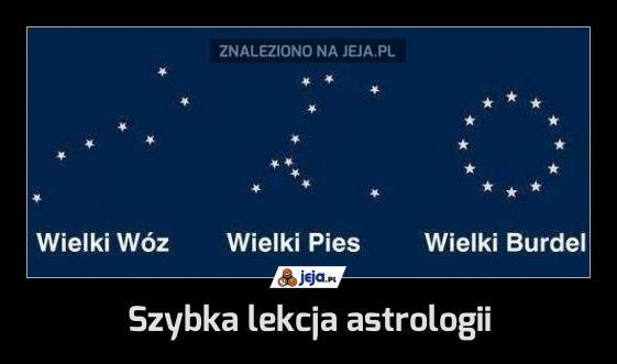 Szybka lekcja astrologii