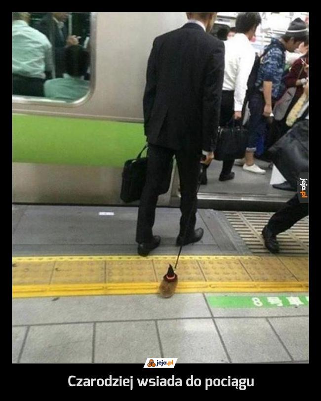 Czarodziej wsiada do pociągu