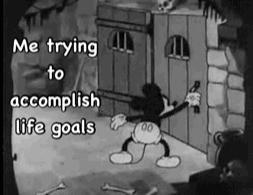 Kiedy próbuje coś osiągnąć