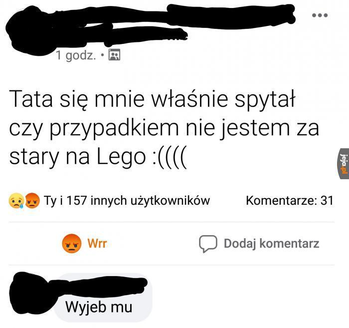 Nikt nie jest za stary na Lego