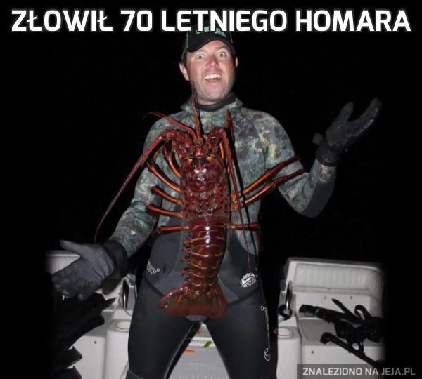 Złowił 70 letniego homara