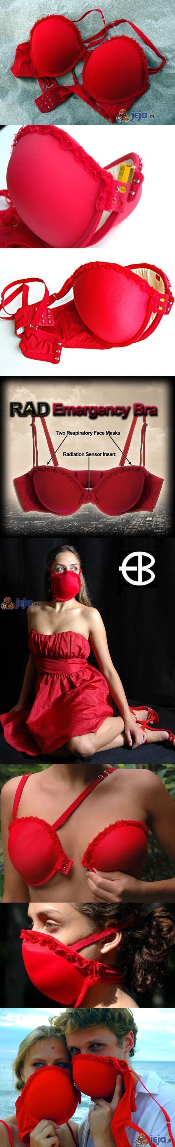 Stanik i maska z czujnikiem promieniowania w jednym