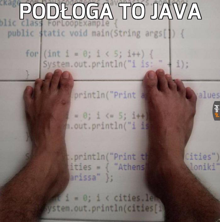 Podłoga to Java
