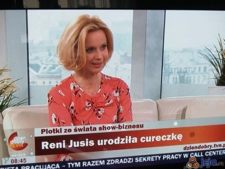 """Reni Jusis urodziła """"cureczkę"""""""