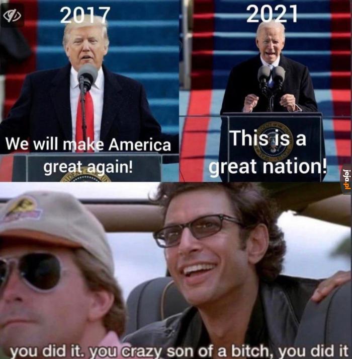 Zrobił to!