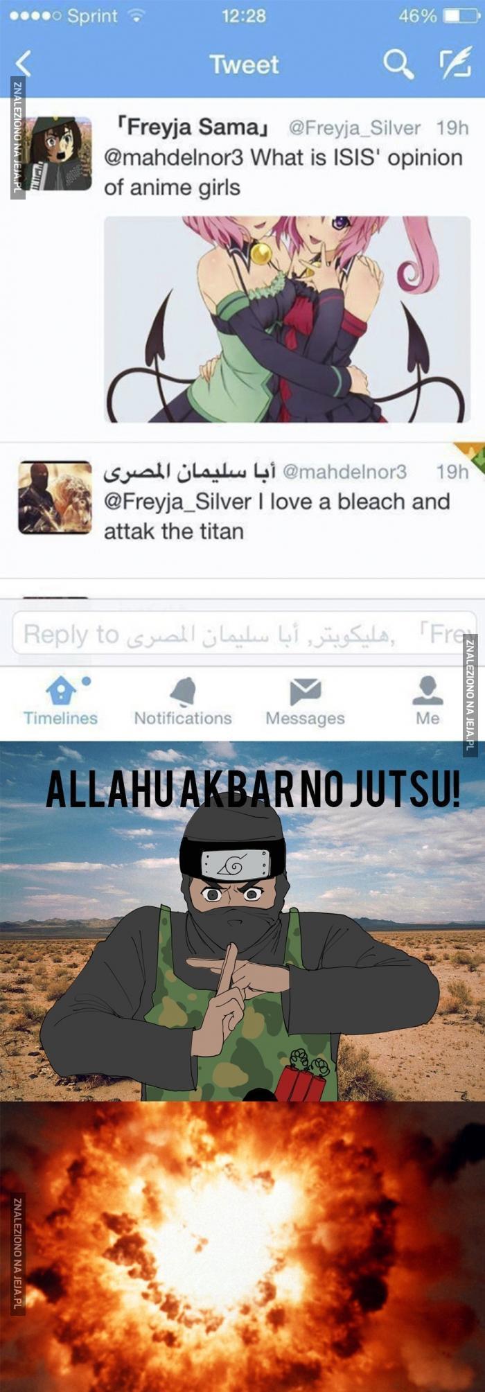 ISIS lubi anime...?