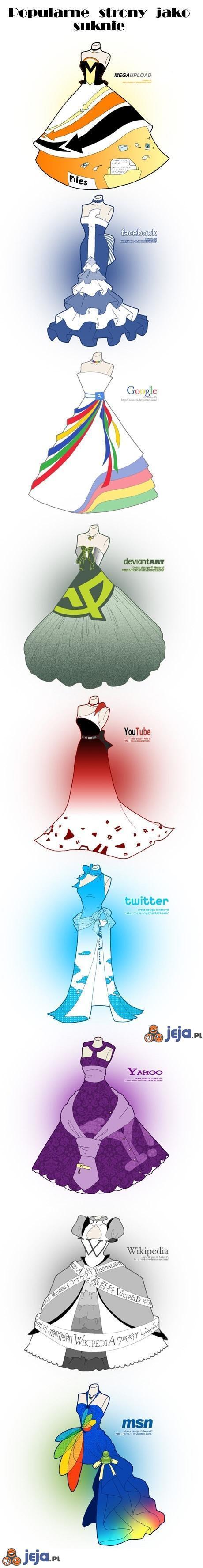 Strony jako suknie