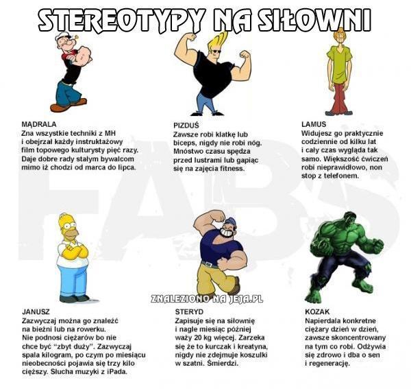 Stereotypy na siłowni