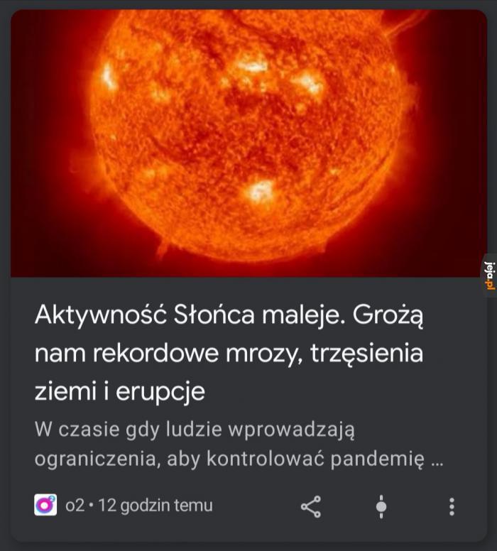 Słońce szykuje się na wakacje 2020