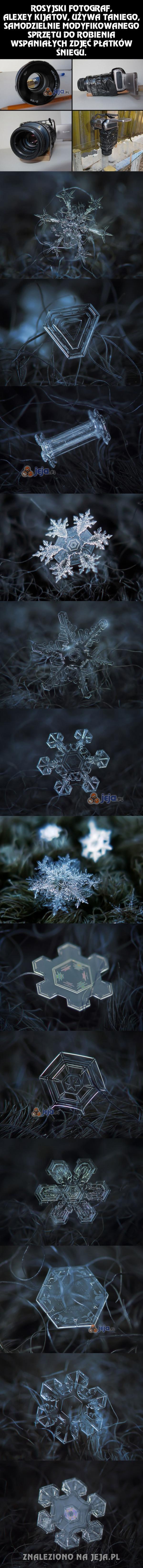 Niesamowite zdjęcia śniegu