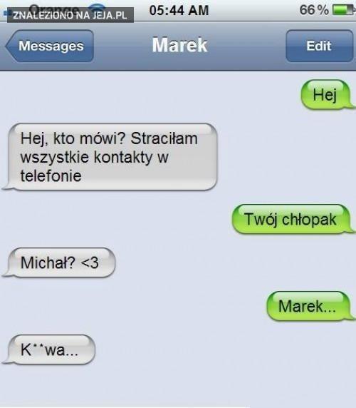 SMS od chłopaka