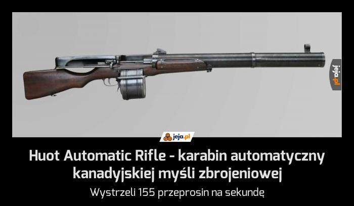 Huot Automatic Rifle - karabin automatyczny kanadyjskiej myśli zbrojeniowej