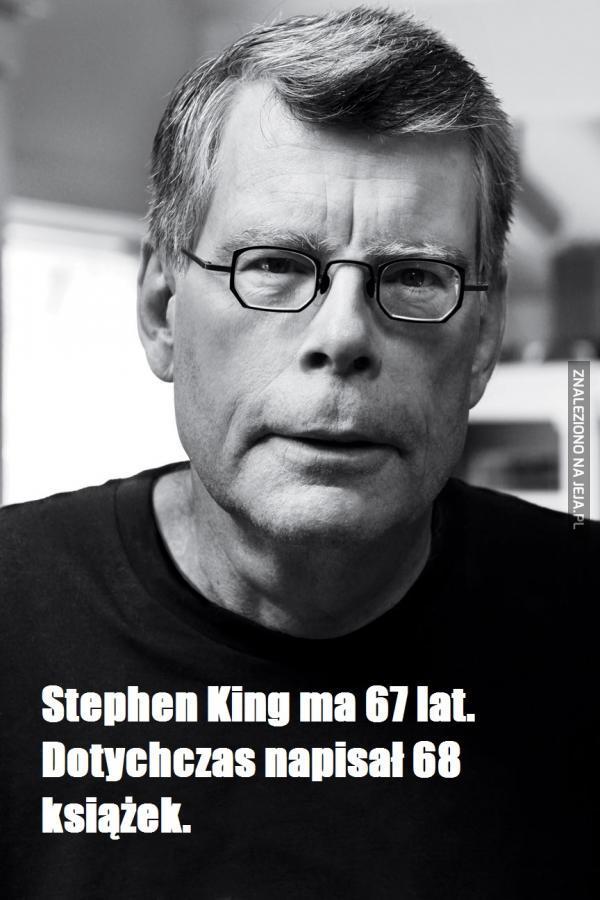 Napisał całkiem dużo książek