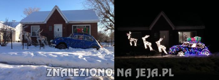 Świąteczna ozdoba przed domem