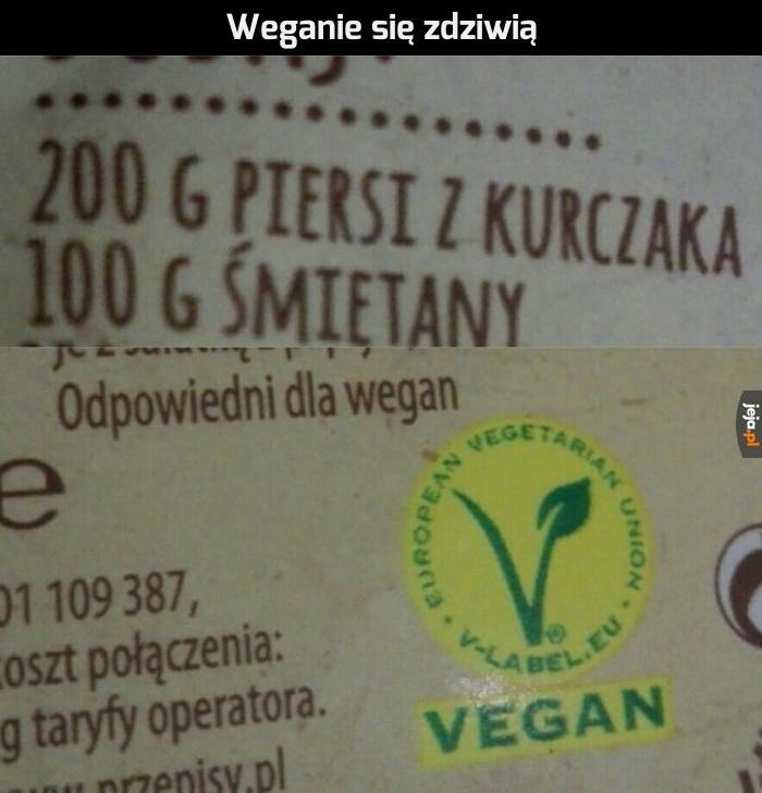 """""""Odpowiednie dla wegan"""""""