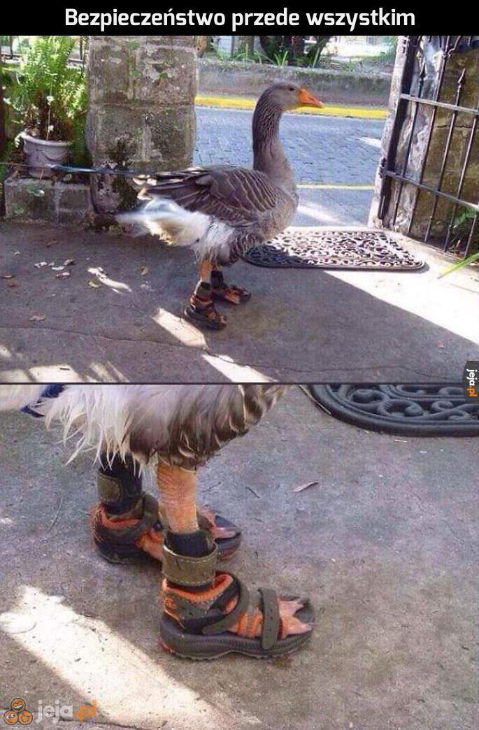 Trzeba dbać o stópki