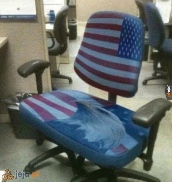 Najbardziej amerykański fotel (ten orzeł wie, jak pachnie wolność)