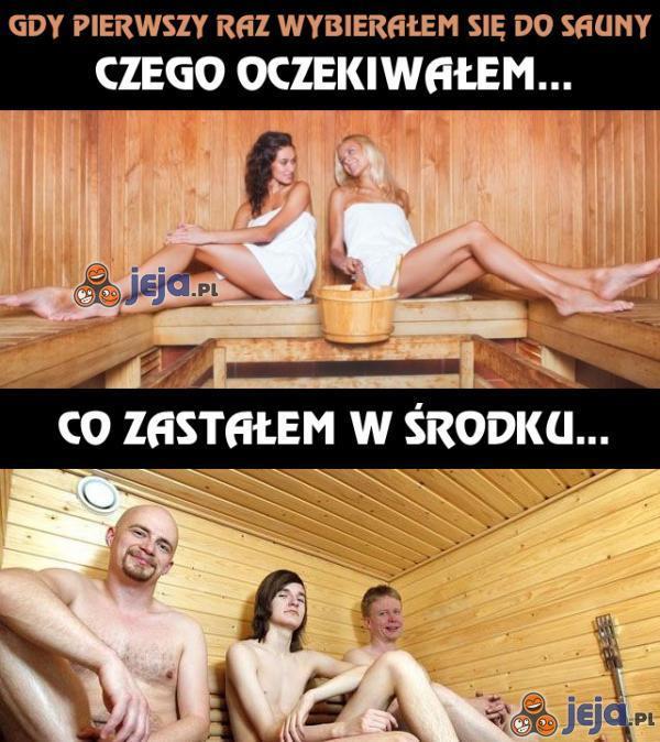 Nigdy więcej nie idę do sauny...