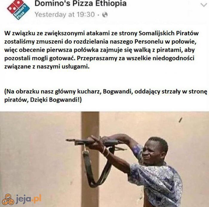 Niełatwo mieć pizzerię w Afryce