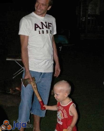 Tatuś z synkiem
