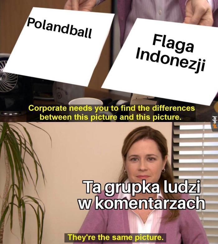PolandBall ma kolory na opak