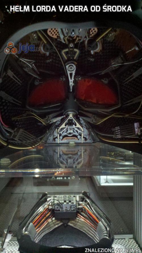Hełm Lorda Vadera od środka