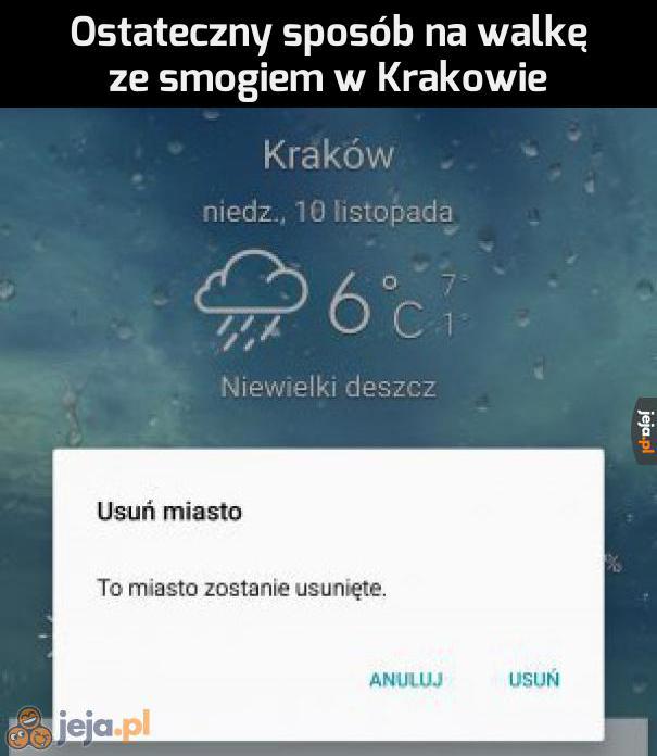 A tereny oddamy Warszawie!