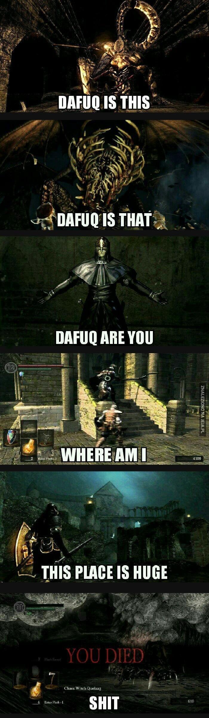 Pierwsze doświadczenia z Dark Souls