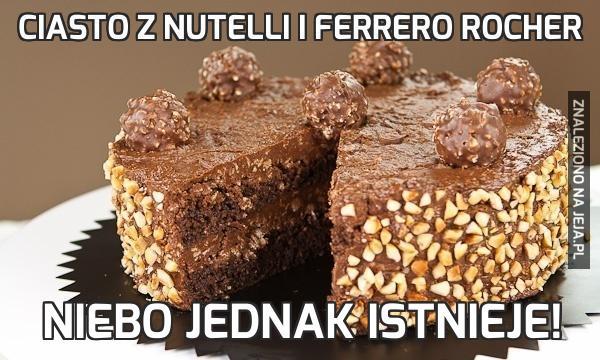 Ciasto z Nutelli i Ferrero Rocher