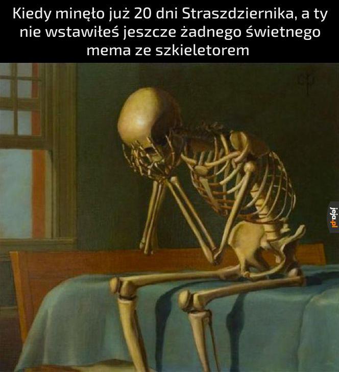*smutne klekotanie kości*