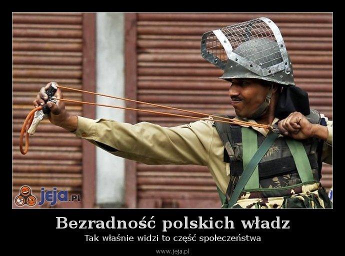 Bezradność polskich władz