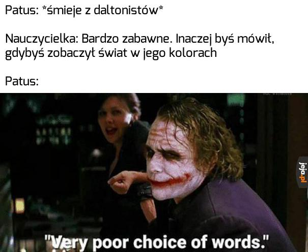 Kiepski dobór słów