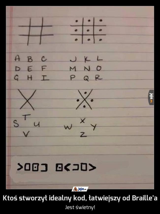Ktoś stworzył idealny kod, łatwiejszy od Braille'a