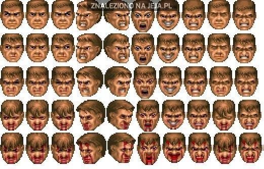 50 twarzy Doomguy'a