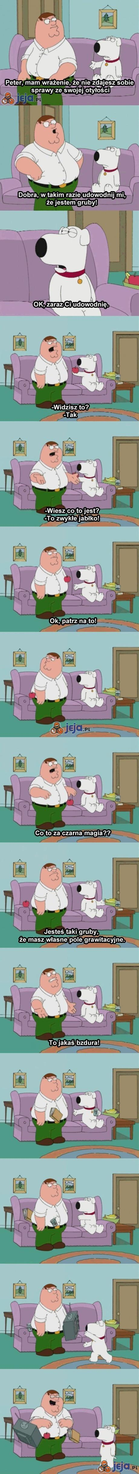Peter ma poważny problem z nadwagą