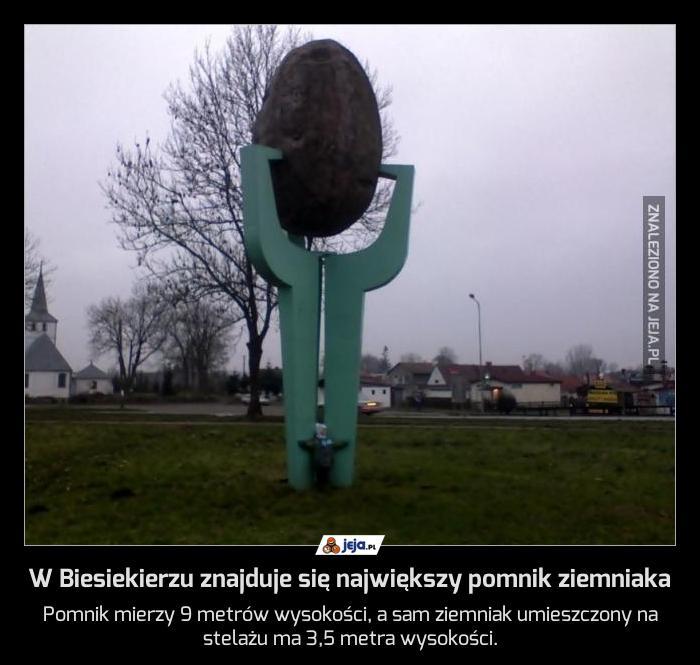 W Biesiekierzu znajduje się największy pomnik ziemniaka