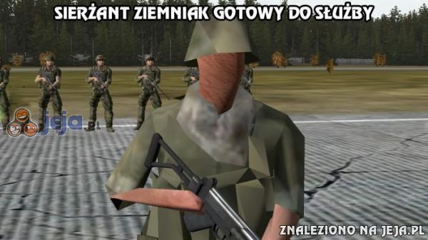 Sierżant Ziemniak gotowy do służby