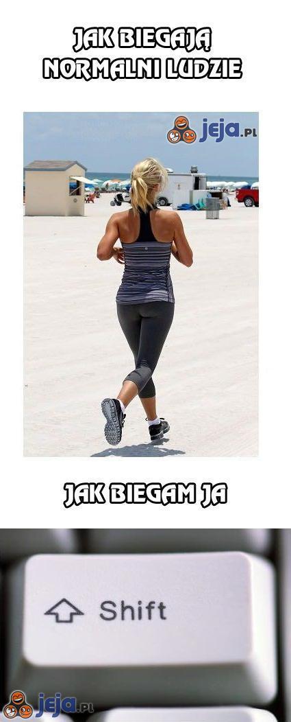Jak biegają normalni ludzie, a jak biegam ja