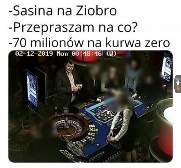 Stonoga w kasynie