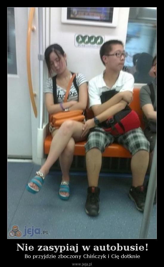 Nie zasypiaj w autobusie!