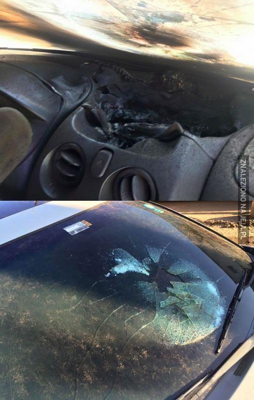 Błyskawica kontra samochód