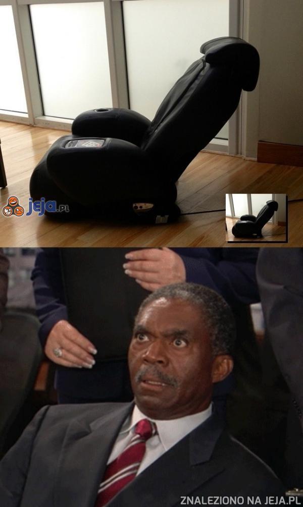 Ten fotel gwarantuje niesamowite doznania...